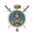 coat arms shield with swords vector image vector image