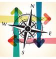 compass arrows vector image vector image