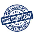 core competency blue grunge stamp vector image vector image
