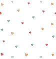 cute little hearts background seamless pattern vector image vector image