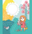 doodles cute card vector image vector image