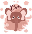 elephant cute animal cartoon vector image