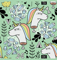endless background with dead unicorn vector image vector image