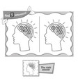 find 9 differences game black brain vector image