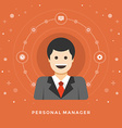 Flat design business concept Personal Manage vector image vector image