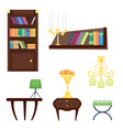 furniture room interior design home decor concept vector image vector image