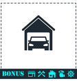 Garage car icon flat vector image vector image