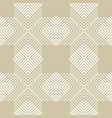 golden geometric pattern with crossing lines vector image