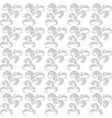 gray and white floral seamless background vector image vector image