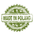 grunge textured made in poland stamp seal vector image vector image