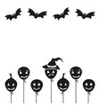 halloween cartoon background vector image