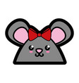 hamster kawaii cartoon vector image