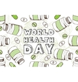 Hand-sketched world health day background vector image