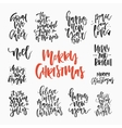 Handdrawn Christmas Lettering vector image vector image