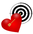 Heart with arrow and a target vector image vector image