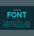 highlights font and round alphabet design vector image vector image