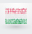 hungary flag made up of small dots vector image