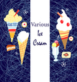 Ice cream graphics vector image vector image