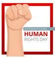 international human rights day concept background vector image vector image