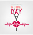 international nurse day vector image
