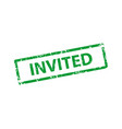 invited stamp texture rubber cliche imprint web vector image vector image