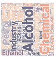 Is Ethanol The Alternative Fuel text background vector image vector image