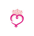 king of love vector image vector image