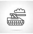 Military robot black line icon vector image vector image