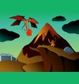 mystical fantasy landscape vector image