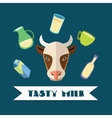 Natural dairy products vector image vector image