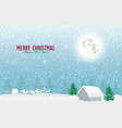 nature landscape and concept santa claus and vector image vector image