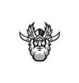 Norse God Odin Head Retro vector image