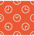Orange clock pattern vector image vector image