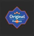original product sticker retail tag vector image
