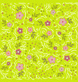 pattern with flowers and calligraphic lines vector image vector image