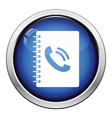 Phone book icon vector image vector image