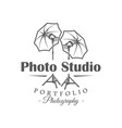 photo studio label isolated on white background vector image vector image