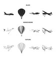 plane and transport symbol vector image vector image