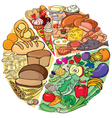 Protein carbohydrate diet vector