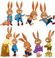 Rabbit set vector image vector image