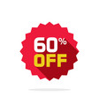 sale tag badge template 60 percent off vector image vector image