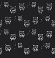 seamless doodle owl pattern background vector image vector image