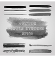 Set of grunge shades of grey watercolor brush vector image vector image
