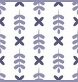 simple seamless pattern with leafy elements vector image vector image