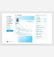 social page interface user profile ui mockup vector image vector image