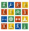 sport web icons with long shadow vector image vector image