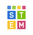 stem - science and math concept vector image vector image