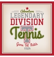 Tennis Sport Badge vector image