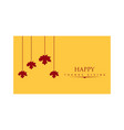 thanksgiving day poster greeting card yellow vector image