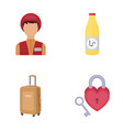 travel tourism profession and other web icon in vector image vector image